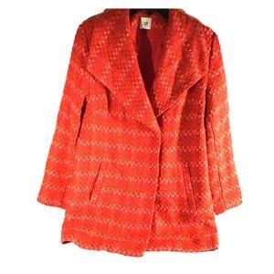 Cabbie red pea coat